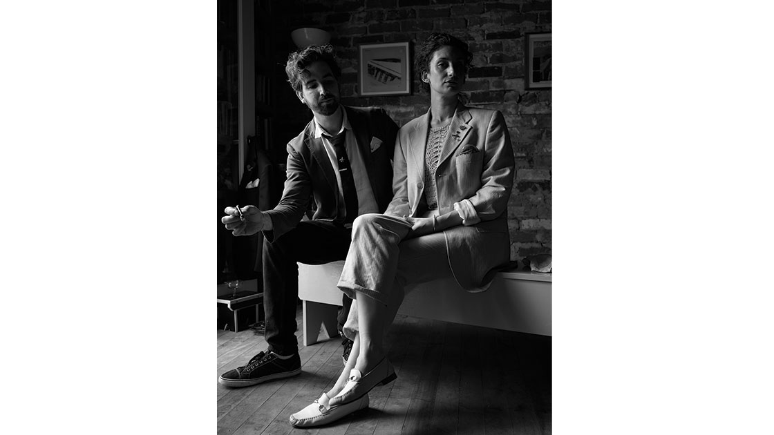 """Joe Wilson and Chanelle Collier at """"Play Something Else Cowboy,"""" 2021, photographed by Jake Terrey"""
