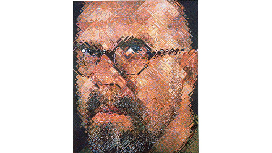 """""""Self-Portrait,"""" 1997, oil on canvas, 259 x 213cm"""