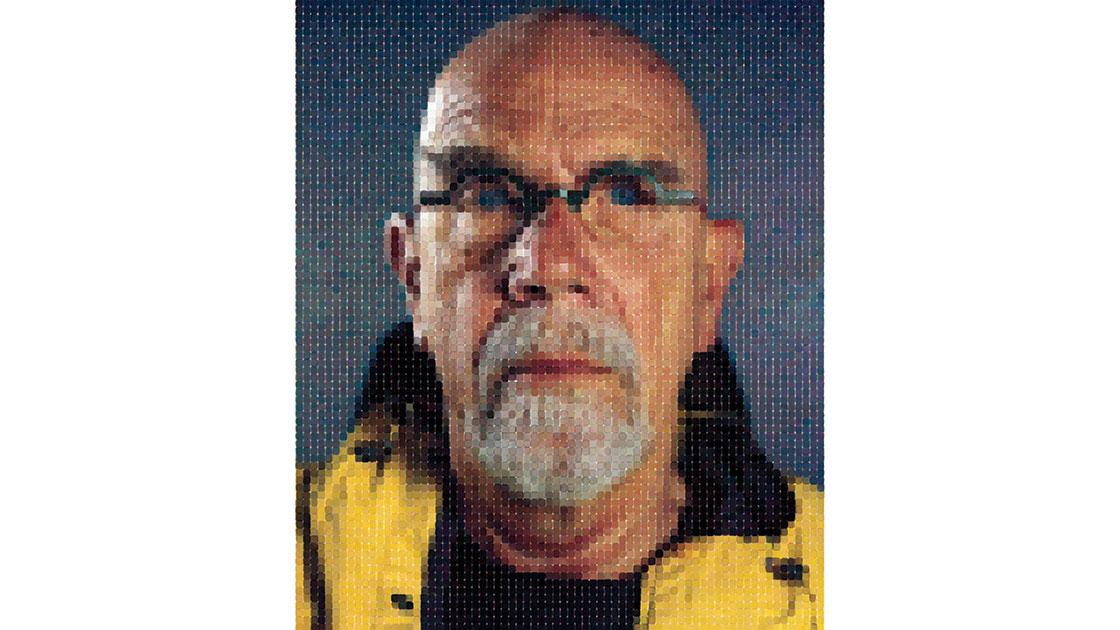 """""""Self-Portrait (Yellow Raincoat),"""" 2013, archival watercolour pigment print (90º) on Hahnemühle rag paper, 191 × 152cm, ed. of 10"""