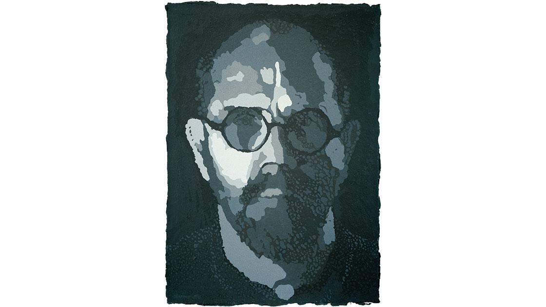 """""""Chuck Close, Self-Portrait/Pulp,"""" 2001, (Progressive Proof I), 101 x 146cm"""