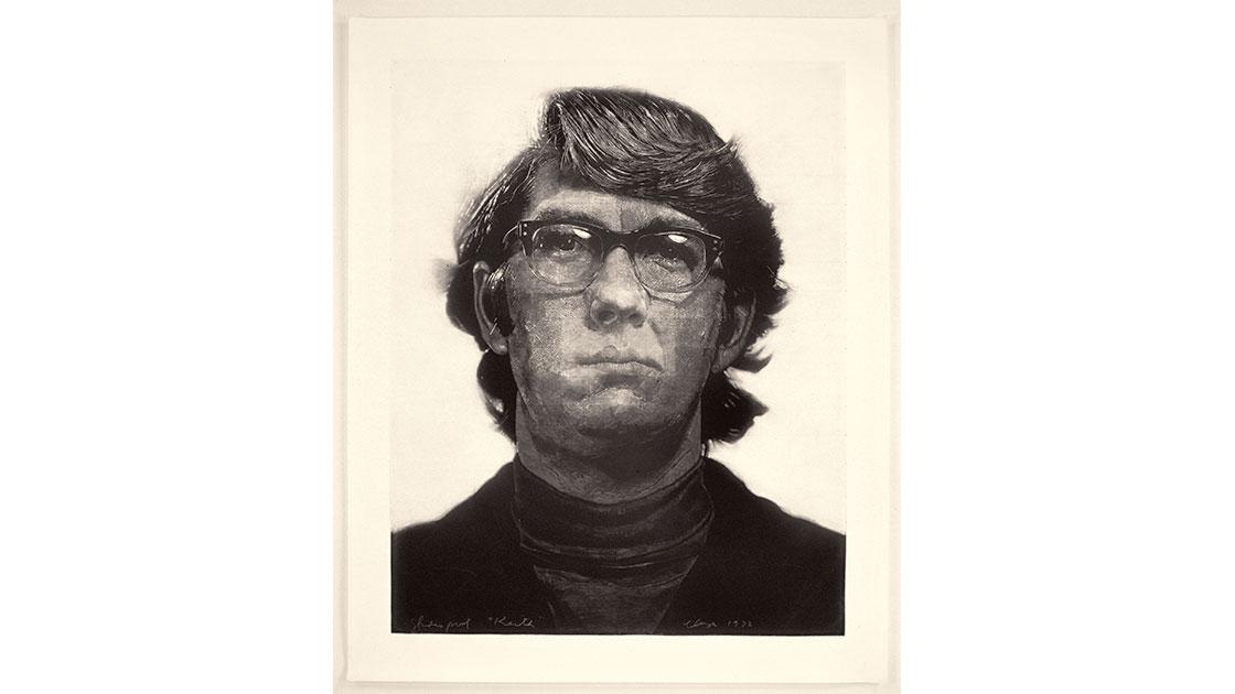 """Keith/Mezzotint,"" 1972, mezzotint, 113 x 90cm, ed. of 10, photograph by Maggie L. Kundtz"