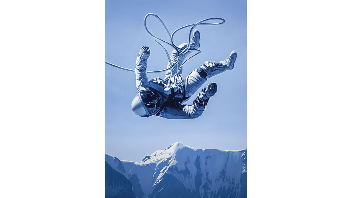 Tony Lloyd, Weightless, 2021, oil on linen, 71 x 51 cm, courtesy the artist and MARS Gallery
