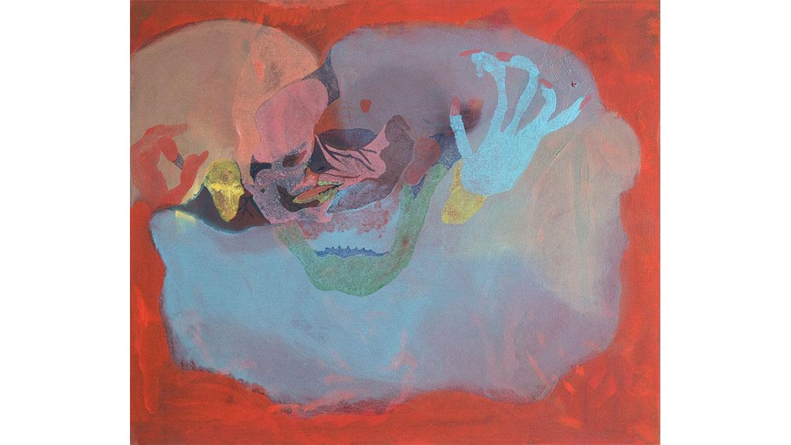 """Won Flesh,"" 2018, oil on cotton, 50 x 60 cm, courtesy the artist and Chalk Horse"