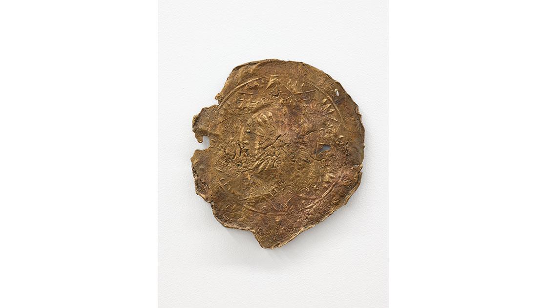 "Isadora Vaughan, ""Dial,"" 2016, bronze, 205 mm diameter, courtesy STATION Gallery"