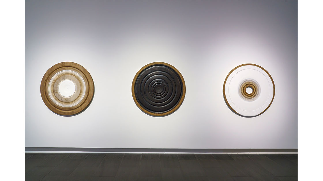 """""""Distillations,"""" installation view at Glasshouse Regional Gallery, 2021, photographed by Jeremy Rogers"""