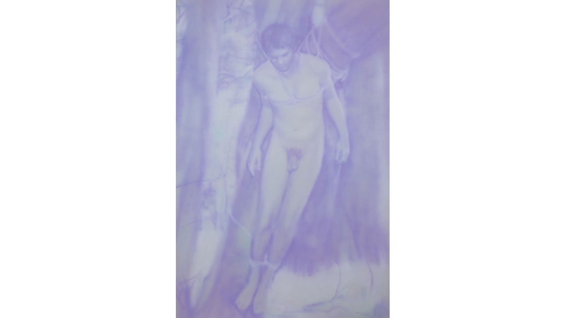 """I have forgotten who I am,""  2012, acrylic on canvas, 182 x 123cm"