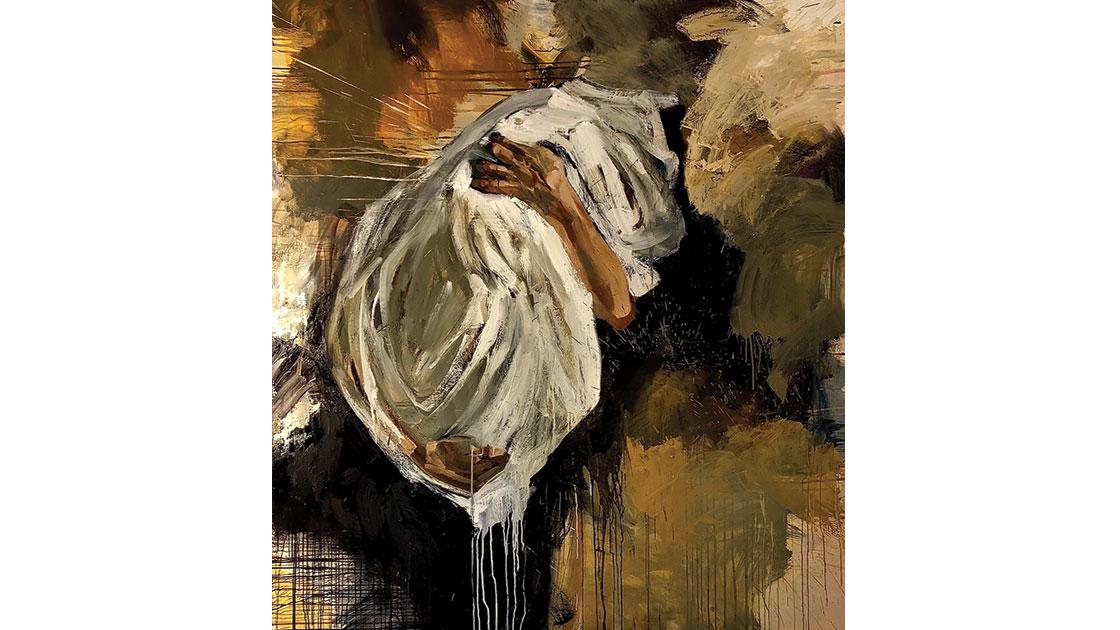 "Margarita Georgiadis, ""Cataclasm,"" 2021, oil on canvas, 168 x 152 cm, courtesy the artist"