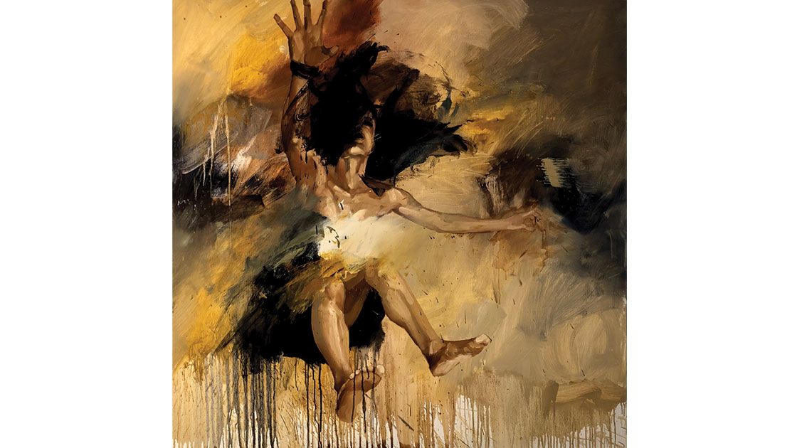 "Margarita Georgiadis, ""Velocity,"" 2021, oil on linen, 122 x 122 cm, courtesy the artist"