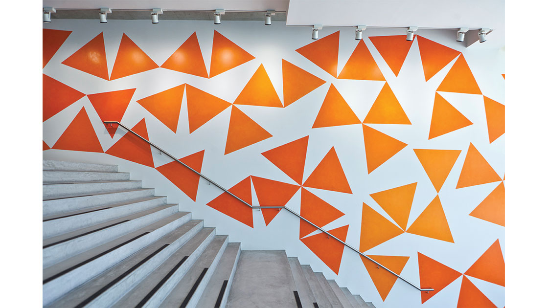 """""""Tango,"""" 2012, synthetic polymer paint on wall, dimensions variable, Museum of Contemporary Art commission, purchased 2012"""