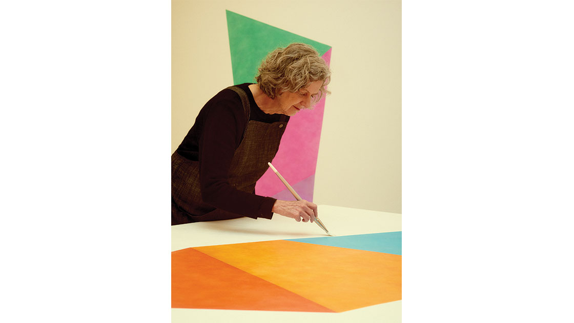 Eager in her studio, photographed by Saskia Wilson