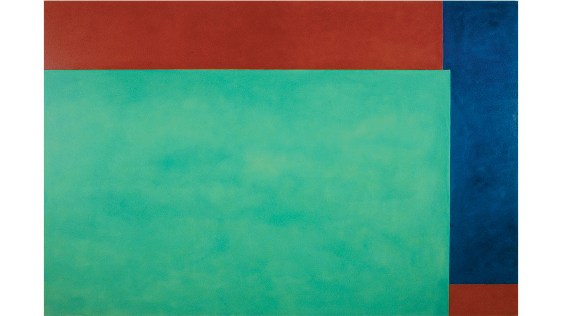 """""""NY Series, Green/Blue,"""" oil on canvas, 171 x 257 cm, courtesy the artist and Utopia Art, Sydney"""