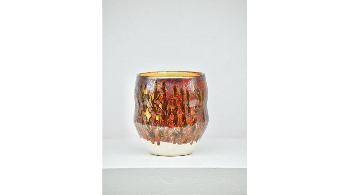 """""""Kangaroo Paw,"""" 2020, glazed ceramic, courtesy the artist"""