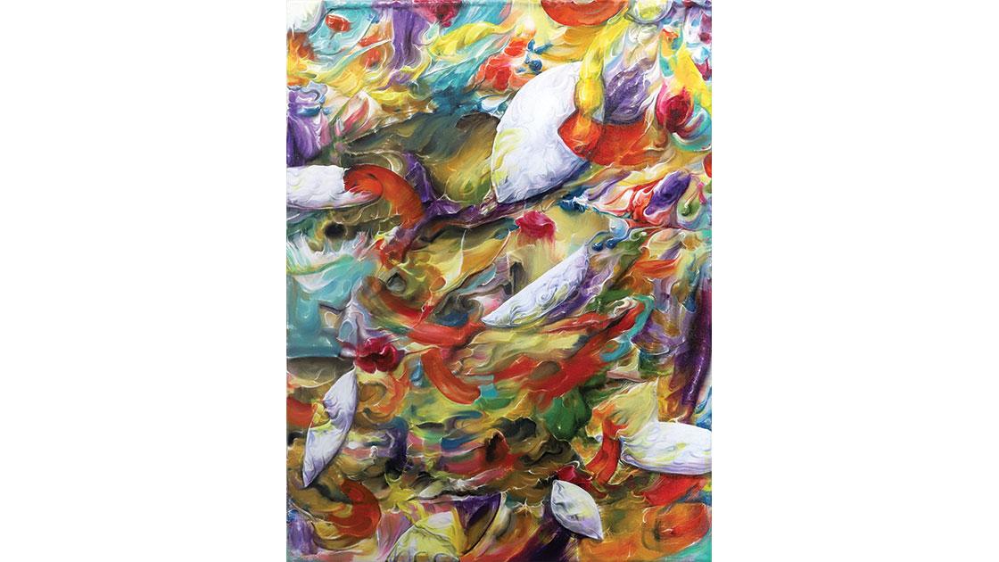 """Mind Shells,"" 2021, oil & acrylic on canvas, 61 x 45 cm, courtesy the artist and Despard Gallery"