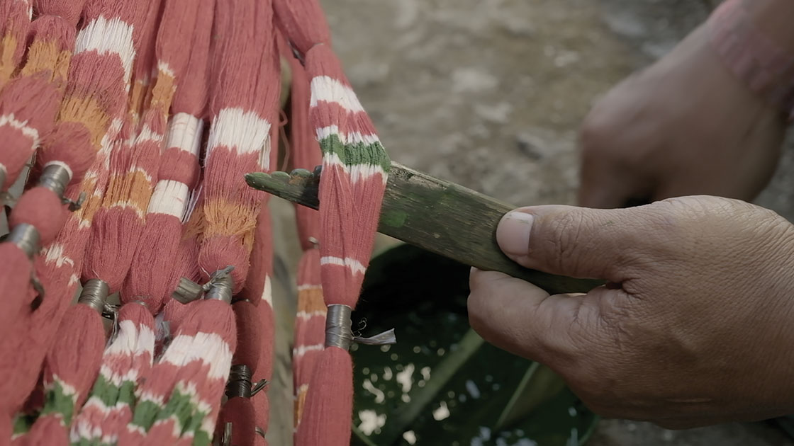 """""""Labours For Colour,"""" video still, 2021, 2 channel video with sound, 16 mins, courtesy the artist and Mosman Art Gallery"""