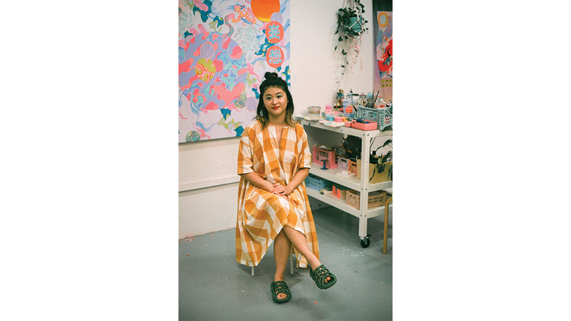 Zhang in her studio, photographed by Nicole Wong
