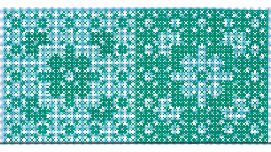 Untitled, early 2000s, ink on graph paper, 15 x 30 cm, courtesy Brett McDowell Gallery