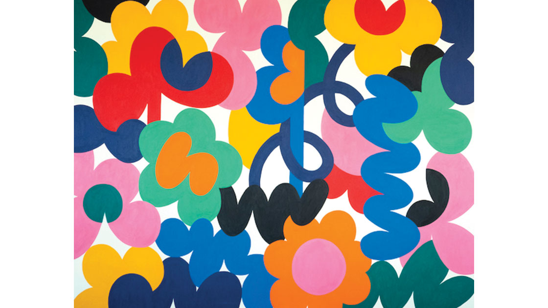 """Stora djungel blommor (Big jungle flowers),"" 2021, acrylic on canvas, 150 x 200cm, courtesy MARS Gallery"
