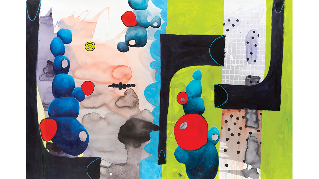 Untitled, 2020, acrylic on polyester, 131 x 198 cm, courtesy the artist and Rogue Pop-up Gallery