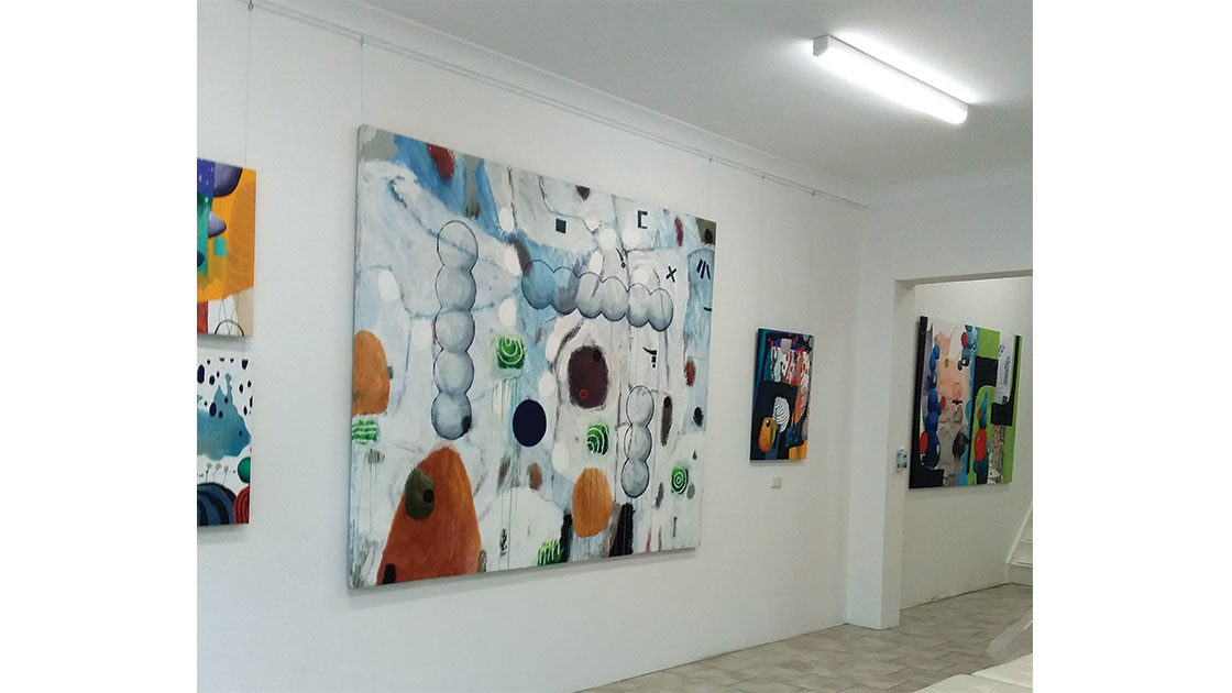 Pete Poulet – An Exhibition of New Works, installation view at Rogue Pop-up Gallery, 2021, courtesy Rogue Pop-up Gallery