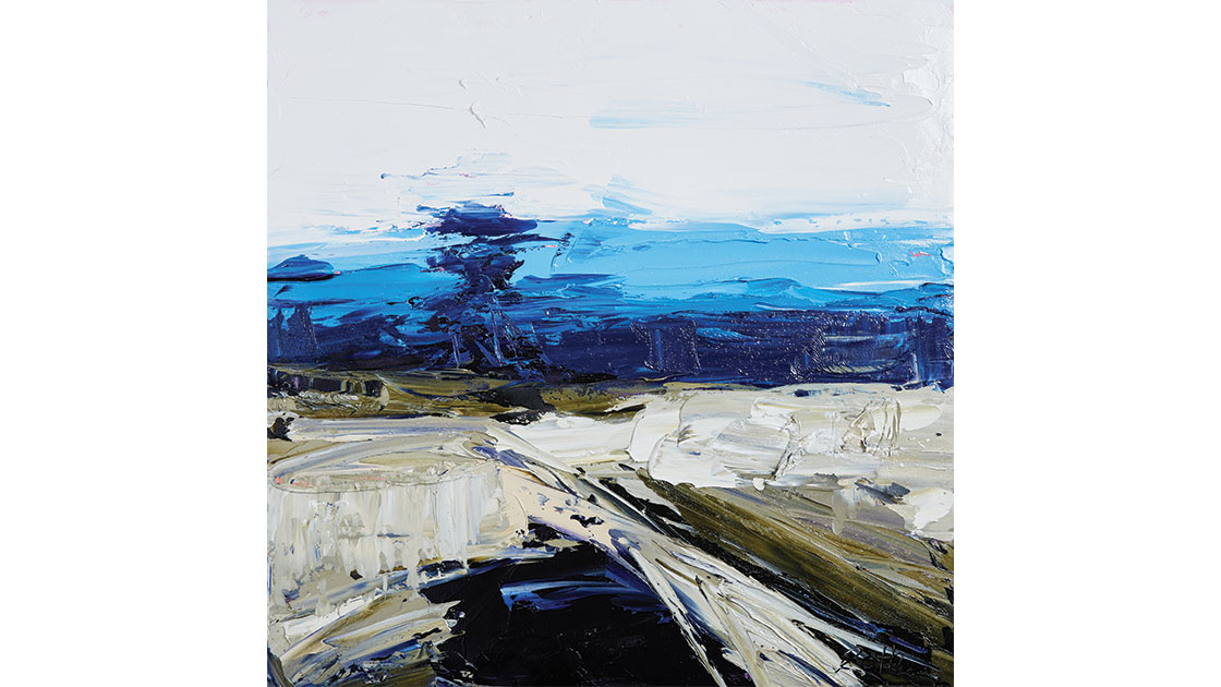 """""""Forces of nature,"""" 2021, oil on canvas, 75 x 75 cm, courtesy the artist and Muswellbrook Regional Arts Centre, photo Ryan Jenkins"""