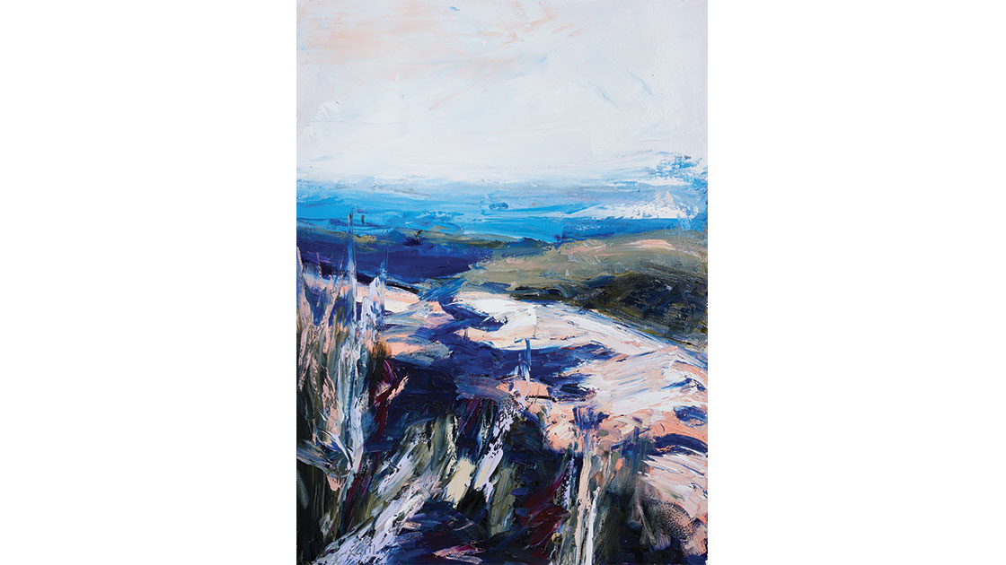 """""""The strange and capricious land II,"""" 2021, oil on paper, 104 x 76 cm, courtesy the artist and Muswellbrook Regional Arts Centre, photo Ryan Jenkins"""