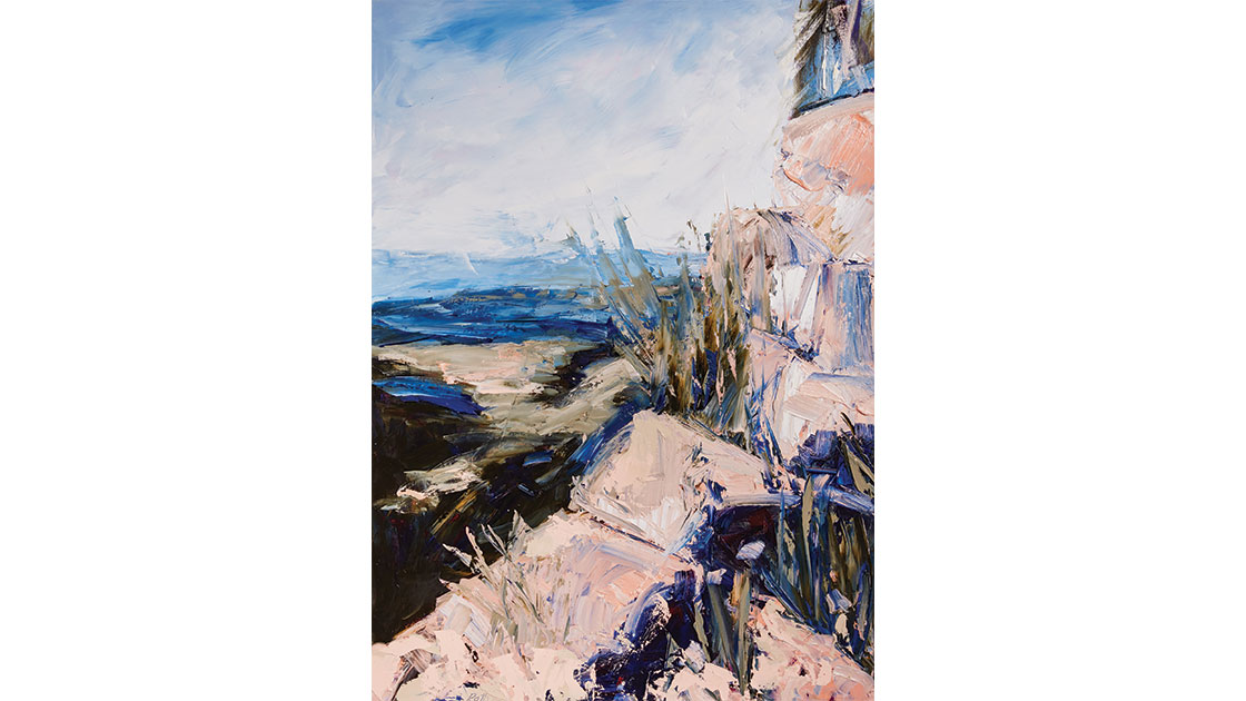 """""""The strange and capricious land III,"""" 2021, oil on paper, 104 x 76 cm, courtesy the artist and Muswellbrook Regional Arts Centre, photo Ryan Jenkins"""