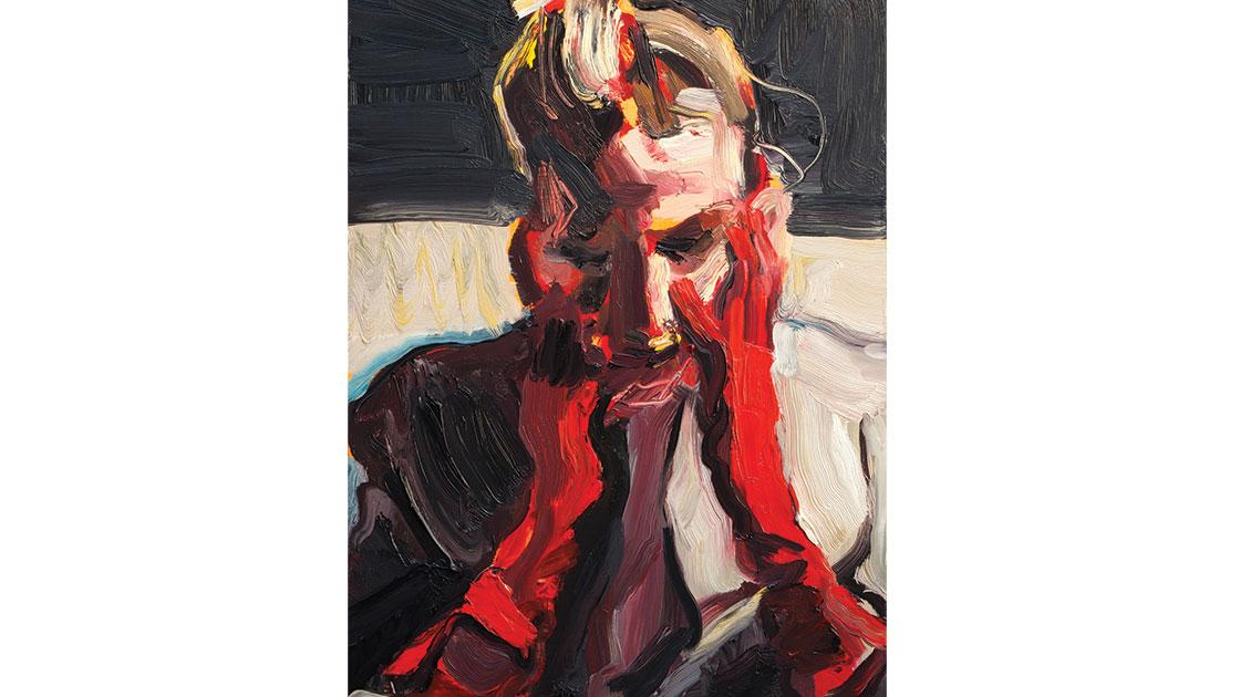 Untitled 2, 2021, oil on board, 40.5 x 30.5 cm, courtesy Jan Murphy  Gallery