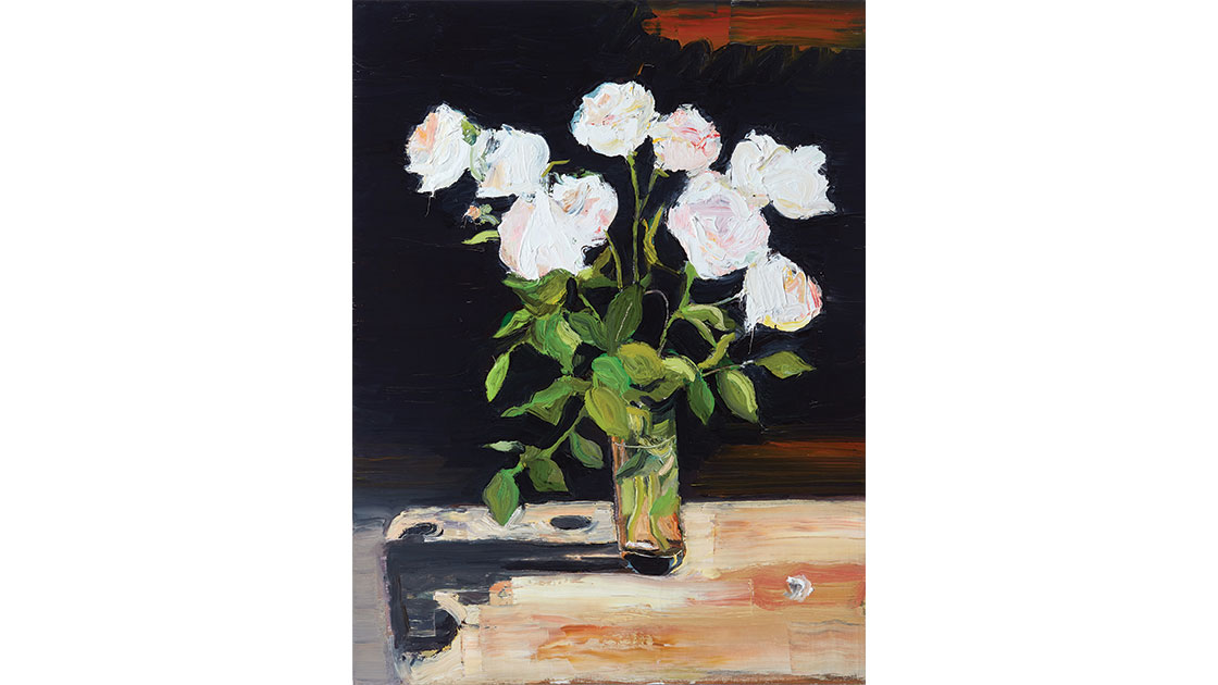 Garden still life 3, 2020, oil on board 61.0 x 46.0 cm, courtesy Jan Murphy Gallery