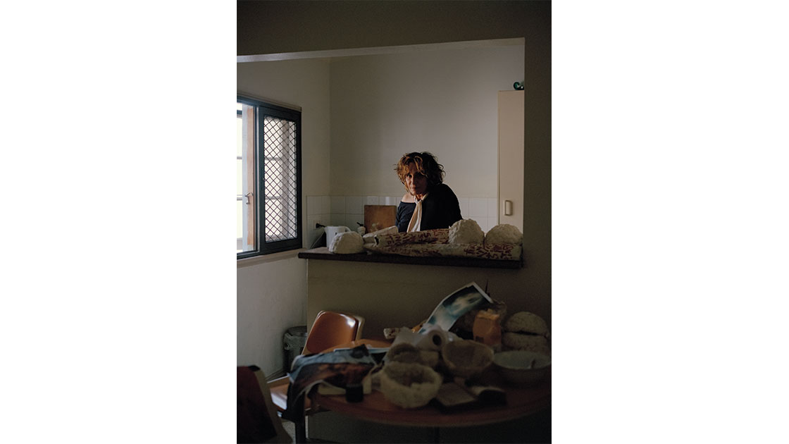 Teena McCarthy photographed in her studio by Saskia Wilson, 2020