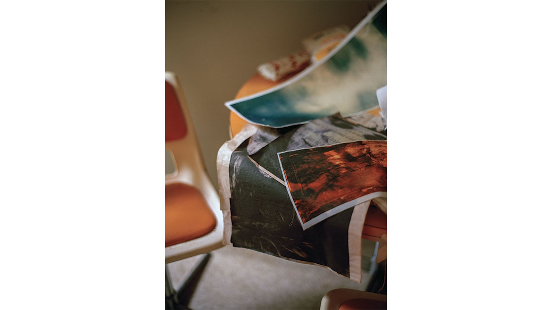 McCarthy's studio photographed by Saskia Wison, 2020
