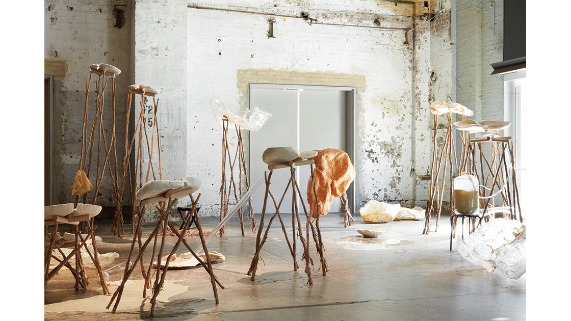 """Isadora Vaughan, """"Organs of Cognition"""" 2021. Installation view """"The National 2021: New Australian Art,"""" Carriageworks, photo credit Zan Wimberley, courtesy the artist and STATION"""