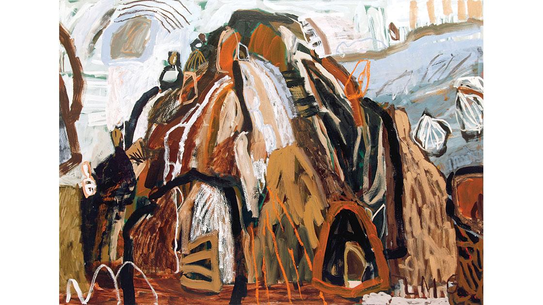 """"""" Loom,"""" 2021, acrylic and oil on canvas, 116 x 160 cm, courtesy Despard Gallery"""