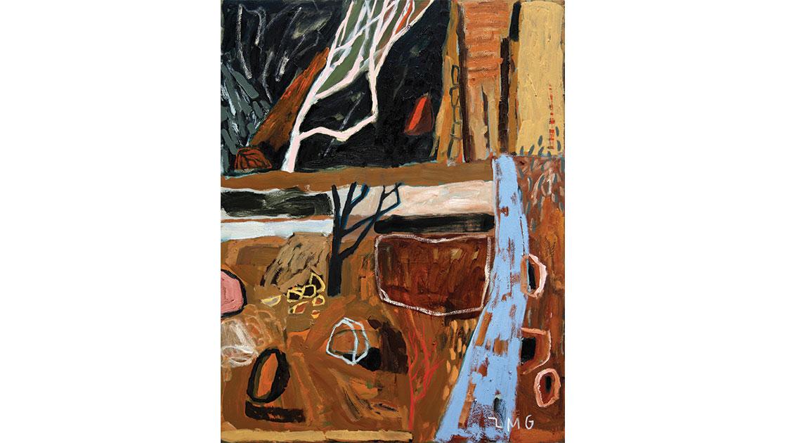 """Periphery,"" 2021, oil on board, 80 x 60 cm, courtesy Despard Gallery"