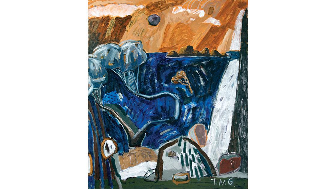 """Reminisce,"" 2021, oil on board, 122 x 100 cm, courtesy Despard Gallery"